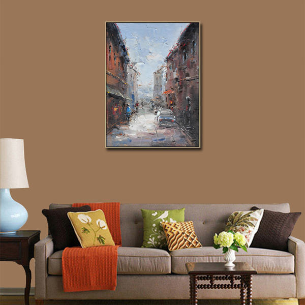 French-Street-Pallet-Knife-Oil-Painting (2)_Easy-Resize.com