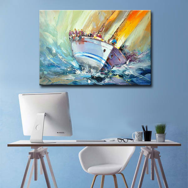 HANDPAINTED-Modern-abstract-boat-oil-painting-on (1)_Easy-Resize.com