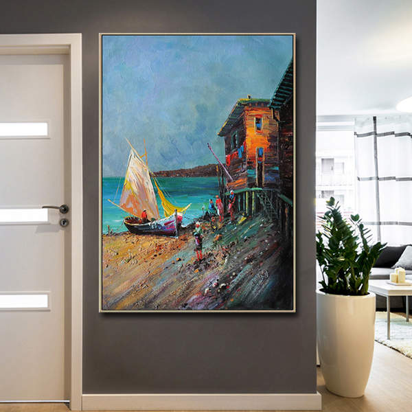 Handmade-Home-Decoration-Canvas-Seaside-Surf-Impressionist (2)_Easy-Resize.com