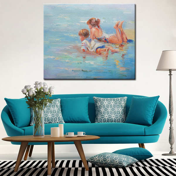 Handmade-Impressionist-Works-Oil-Painting-Beautiful-Beach (1)_Easy-Resize.com