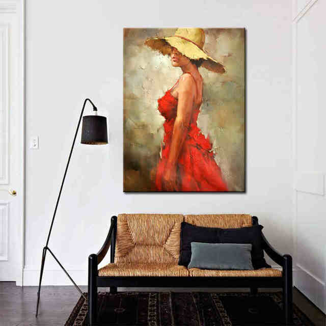 Hot-Lady-in-Red-Dress-Oil-Painting (2)_Easy-Resize.com