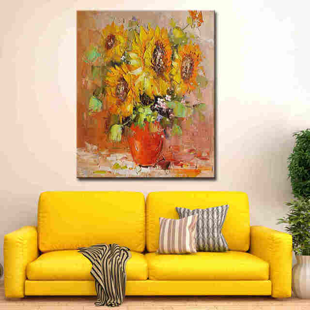 Impressionism-sunflower-art-palette-knife-painting-with (2)_Easy-Resize.com