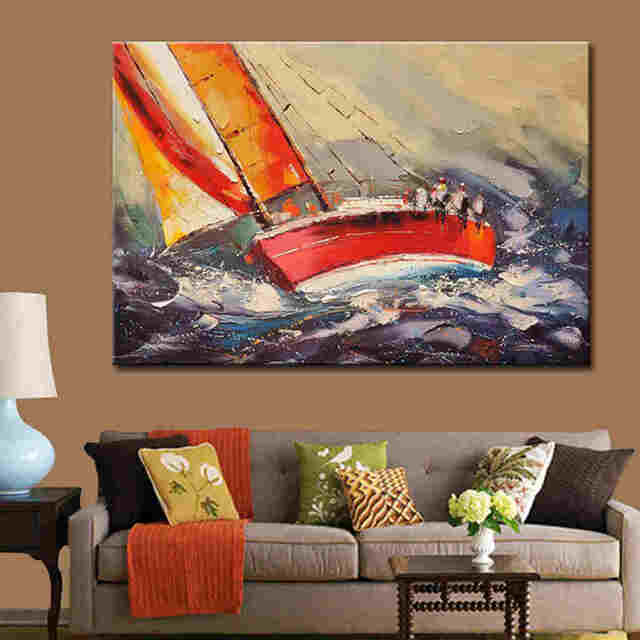 Palette-knife-boat-landscape-canvas-oil-painting (2)_Easy-Resize.com