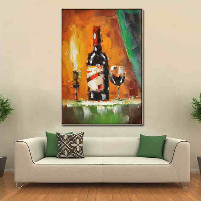 Wine-Bottle-Abstract-still-life-oil-Painting (1)_Easy-Resize.com