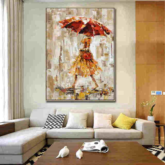 Yellow-Modern-Umbrella-Women-Abstract-People-Oil_Easy-Resize.com